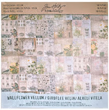 Tim Holtz Idea-Ology Vellum Paper Stash 12X12 18/Pkg - Wallflower