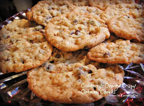 Cranberry-orange Crispy Oatmeal Cookies Recipe