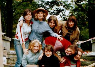 """Photo: Kraków """"Park Sztuki"""" 09.2004 r. M.Czrnik, W.Malec, M.Szwajdych, M.Walogóra, I.Kozik, A.Kołaczyńska, A.Zajda, K.Makara"""