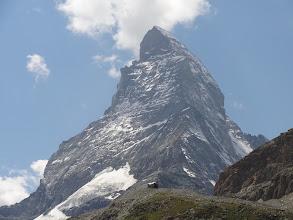 Photo: Cervin, vue depuis la cabine (arête du Hornli côté Suisse)
