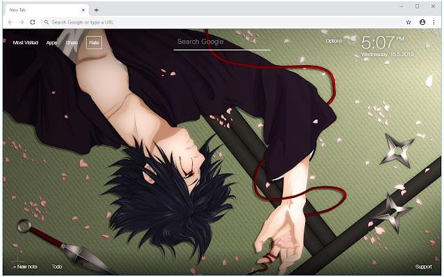 Naruto VS Sasuke HD Wallpapers New Tab Themes