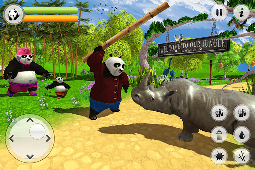 Wild Panda Family: Kung Fu Jungle Survival apktram screenshots 12