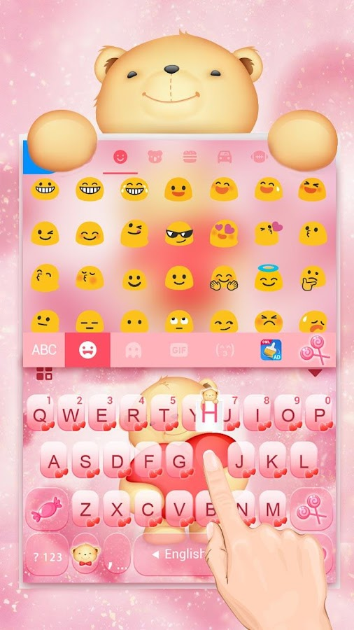 Cuteness Bear Keyboard- screenshot