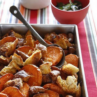 Baked Spicy Sausages With Sweet Potato