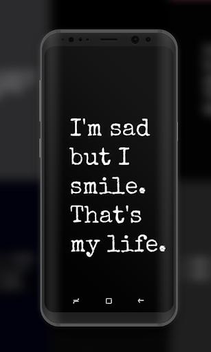 Sad Quote Wallpaper Dark Background Programme Op Google Play