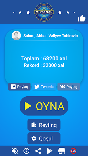 Milyonçu 2017-Azerbaijani game screenshot 1