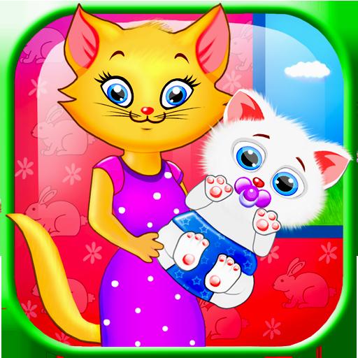 休闲のかわいい新生児キティ LOGO-記事Game