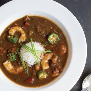 Shrimp and Okra Gumbo.