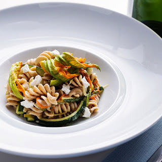 Fusilli with Zucchini and Goat Cheese