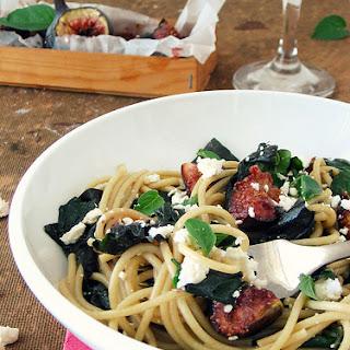 Fig, Feta & Spinach Spaghetti