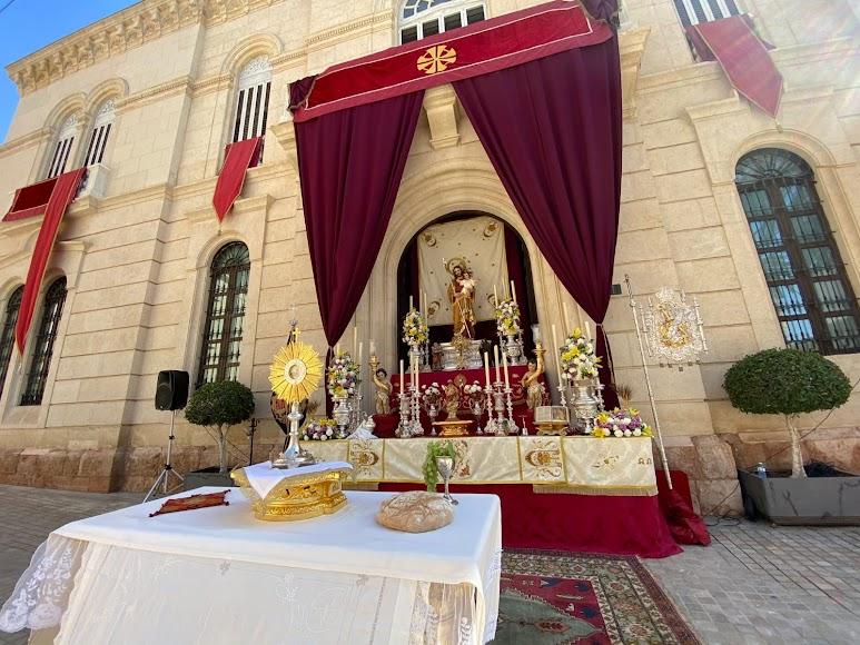 Altar de la Hermandad del Prendimiento.