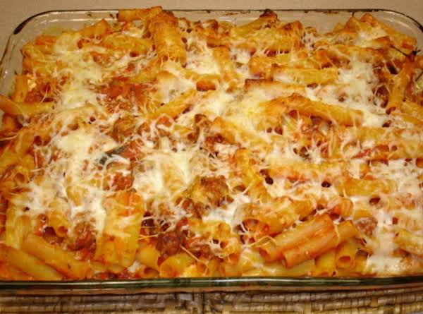 Three Cheese Baked Ziti Recipe