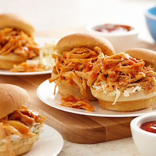 Crock Pot BBQ Chicken Sliders