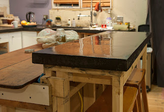 Photo: Getting many coats of tung oil & citrus solvent.