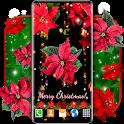 4K Christmas Flowers ❤️ Poinsettia Live Wallpaper icon