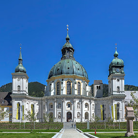 Ettal Abbey Exterior by Elk Baiter - Buildings & Architecture Places of Worship ( monastery, ettal, abby, germany, church,  )