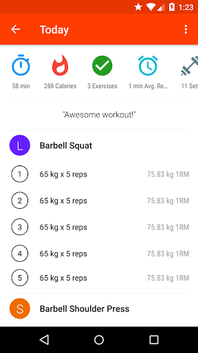 Progression - Fitness tracker