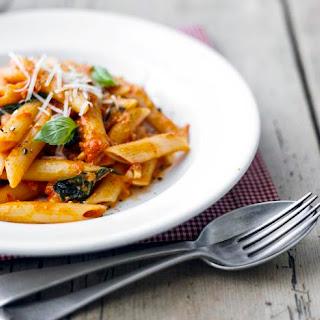 Penne with Spicy Tomato and Mozzarella Sauce Recipe