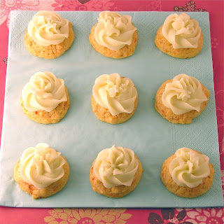 Carrot Cookies with Creamy Orange Frosting