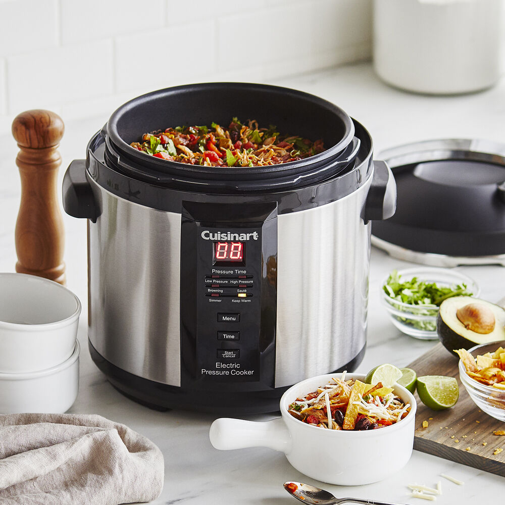 Cook delicious meals faster with a pressure cooker. Source: Sur La Table