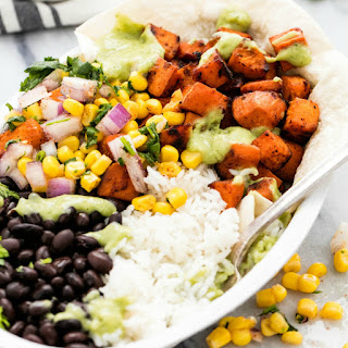 Sweet Potato Burrito Bowls.