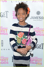 Photo: The youngest ever Oscar nominee, actress Quvenzhane Wallis, is spotted with a Hello Kitty necklace on the red carpet!  Credit: 2013 Getty Images (Michael Kovac/Getty Images for Piaget)