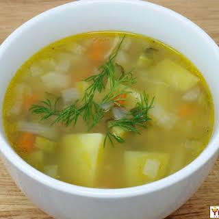 Vegan Rassolnik (Russian Pickle Soup).