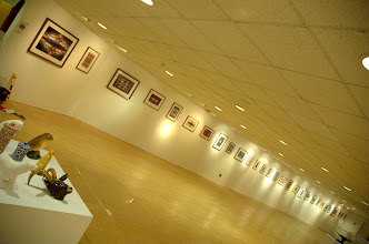 """Photo: My """"Fearful Symmetry II"""" exhibition at The Gallery, Stratford upon Avon, 8th February 2009, with Lottie's objet in foreground"""