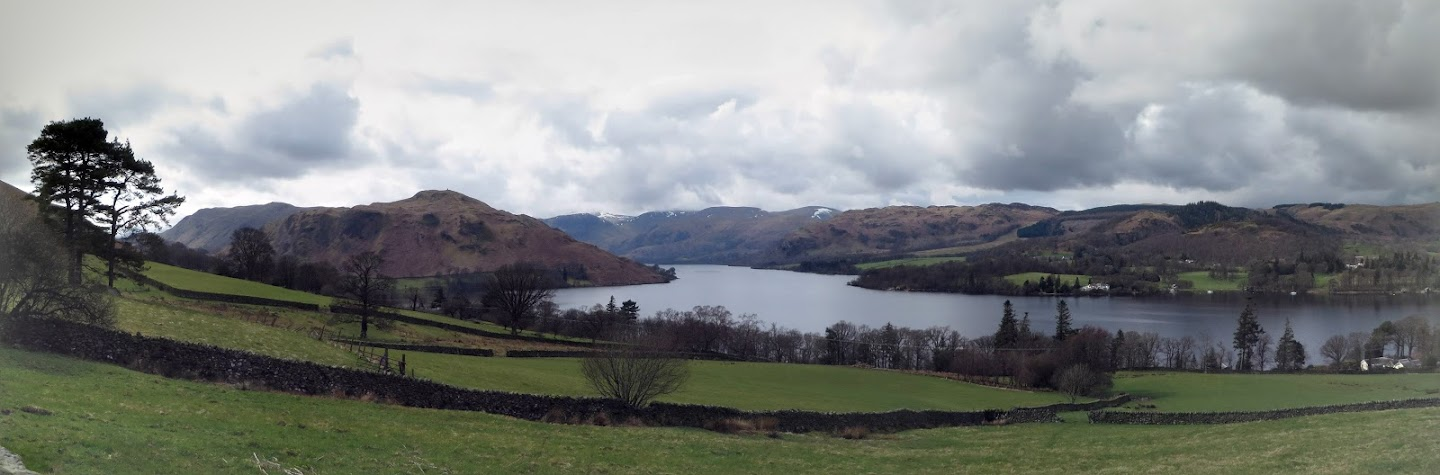 Panoramic View Of Lake Ullswater