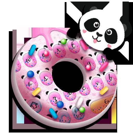 Cute Pink Donut Panda keyboard
