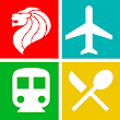 Singapore Travel Guide, Attractions, MRT, Map icon
