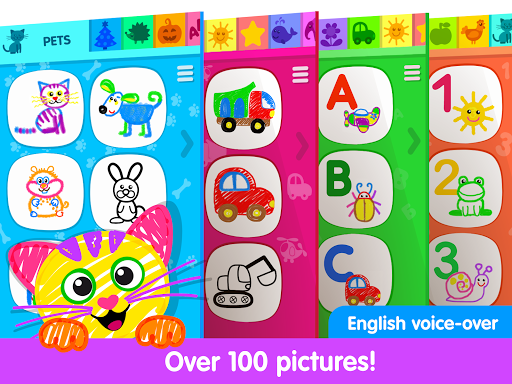 Toddler Drawing Academyud83cudf93 Coloring Games for Kids  screenshots 9