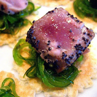 Seared Tuna on Seaweed Salad