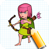 How to Draw Clash of Clans
