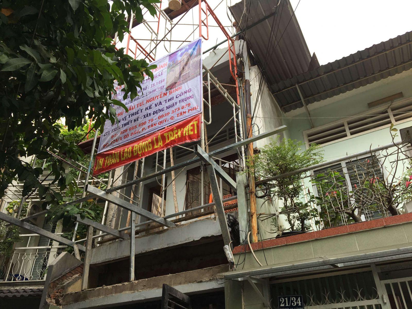 Xin giấy phép sửa chữa nhà ở khi có thay đổi kết cấu ngoại thất, nâng tầng