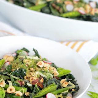 Spring Kale Salad with Honey-Tahini Dressing