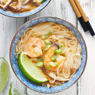 Shrimp Shiitake Curry Soup.