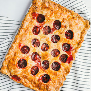 Polka Dot Strawberry Ginger Slab Pie