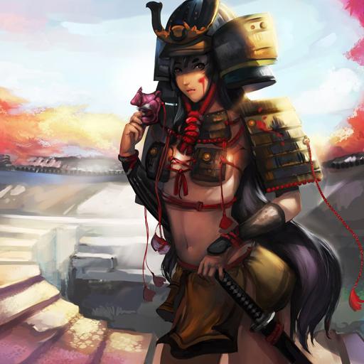 Samurai Girl Live Wallpaper 個人化 App LOGO-硬是要APP