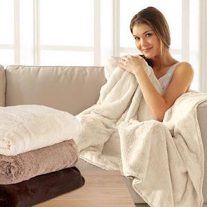Patura Fleece pufoasa Cocolino 200 x 220 cm