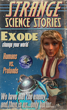 Photo: Exode on the cover of an imaginary science fiction magazine as rendered by the PULP-O-MIZER. See: http://wikifiction.blogspot.com/2013/06/exode-pulped.html