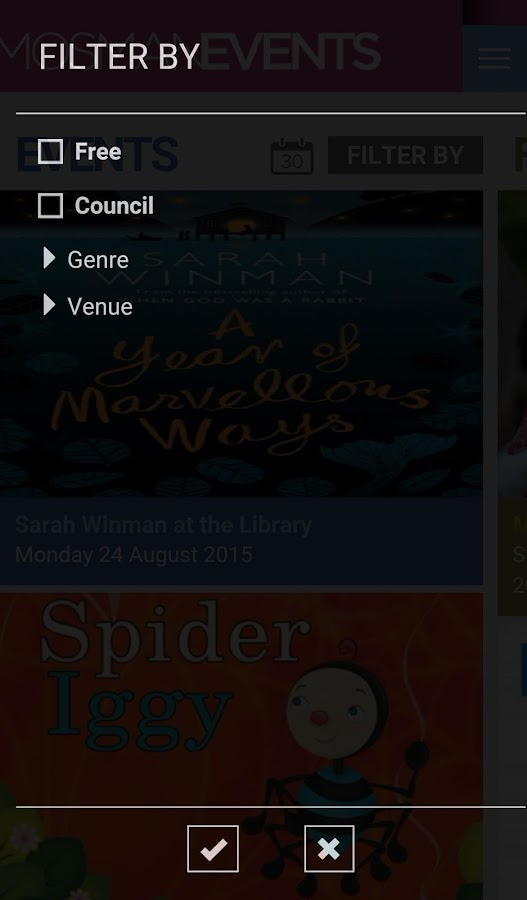 Mosman Events- screenshot