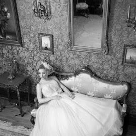 Vintage bride by SOTIRIOS SARAFIS - Wedding Bride ( photooftheday, bride, wedding dress, dress, art, wedding photography, wedding photographer, photo, photoshop, wedding photographers, brides, photographers, photograph, vintage, photographer, wedding, black and white, photography, photoshoot )