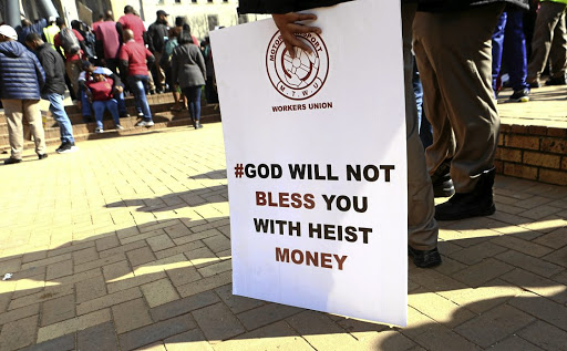 Cash-in-transit security guards staged a protest at Beyers Naude Square, Johannesburg CBD, to highlight their plight in heists.