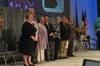 Photo: Six veteran missionaries were honored before the 2010 Synod Convention on July 12. Those present at the Convention inlcuded the Dretkes (Africa), Millers (India), Rowolds (Taiwan and Hong Kong), and Vehlings (Japan). Those recognized, but unable to attend were the Blanks (Venezuela) and Greinkes (Africa).