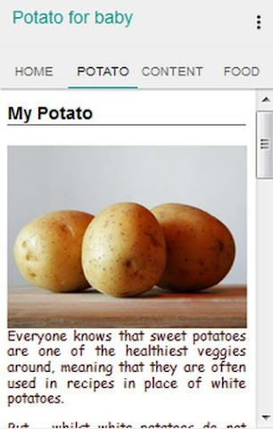 android Potato for Baby Screenshot 1