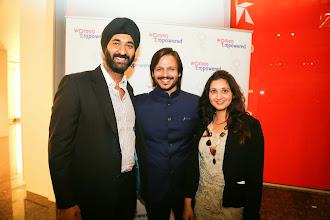 Photo: L-R: Harmeet Ahuja, Vivek Oberoi and Reena Ranger