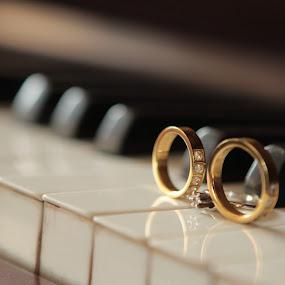 by Coco Bordeos - Wedding Details ( ring, piano, details, keys, wedding, marriage )