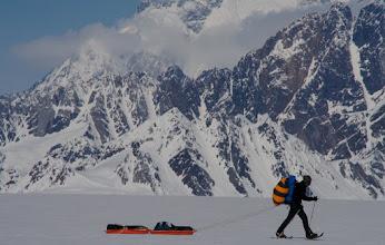 Photo: On the way. Seward Glacier. Day 10.
