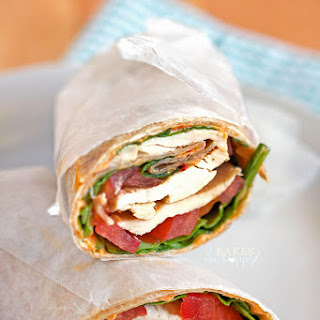 Roasted Pepper Hummus Chicken Wraps